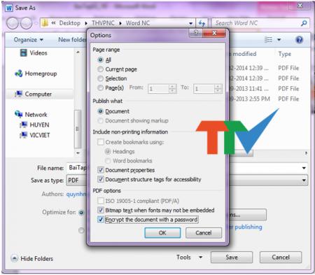 Hướng dẫn tạo mật khẩu cho file pdf bằng Microsoft Office 2010