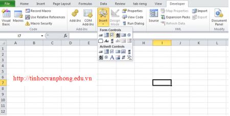 Hướng dẫn chọn checkbox trong excel 2010